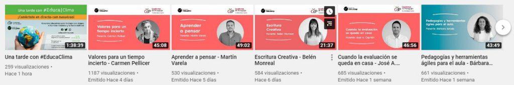 YouTube webinars de Trilema durante la Cuarentena COVID